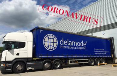 Деламод извършва превоз на товари в условията на пандемия от коронавирус